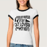 Cat Lover Physiology Professor T-shirt
