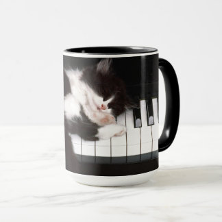 Cat Lover Piano Keys Mug