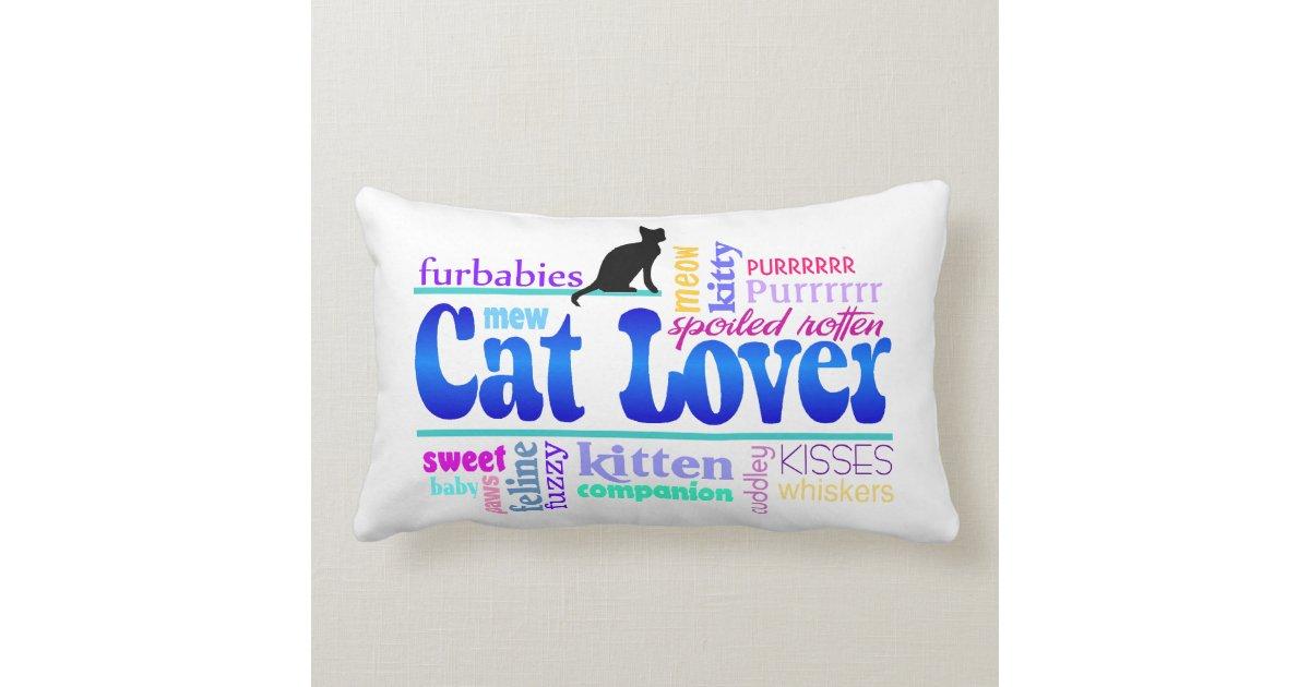 Cat Lover Pillow | Zazzle.com