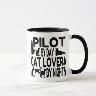 Cat Lover Pilot Mug
