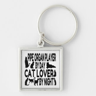Cat Lover Pipe Organ Player Keychain