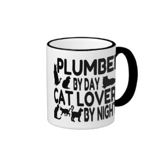 Cat Lover Plumber Ringer Coffee Mug