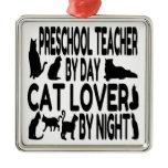 Cat Lover Preschool Teacher Ornament