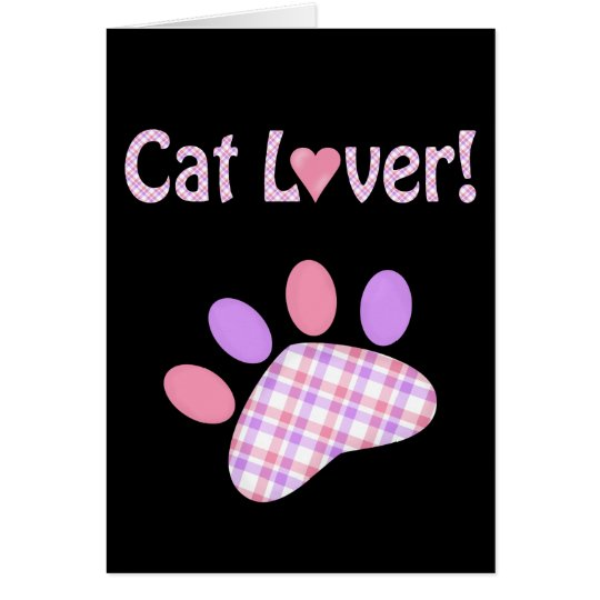 Cat Lover Products Card
