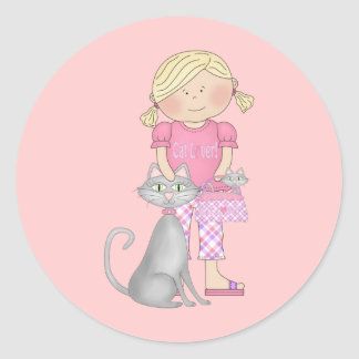 Cat Lover Products Classic Round Sticker