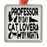 Cat Lover Professor Christmas Ornaments