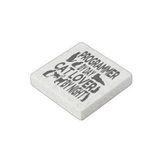 Cat Lover Programmer Stone Magnet