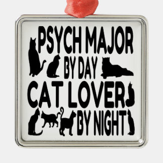 Cat Lover Psych Major Metal Ornament