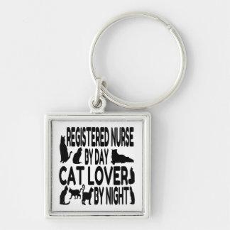 Cat Lover Registered Nurse Key Chain