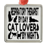 Cat Lover Respiratory Therapist Metal Ornament
