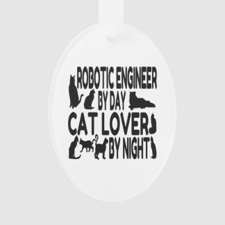 Cat Lover Robotic Engineer Ornament