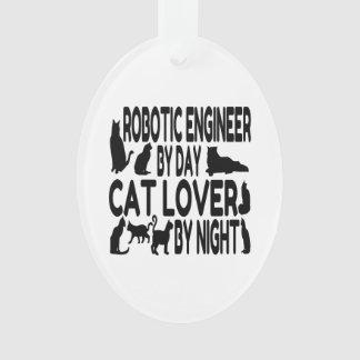 Cat Lover Robotic Engineer Ornament