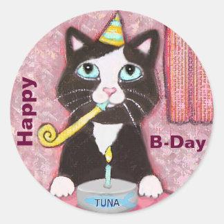 Cat Lover s Custom Happy Birthday Stickers