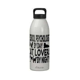 Cat Lover School Psychologist Water Bottles