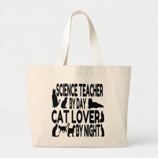 Cat Lover Science Teacher Large Tote Bag