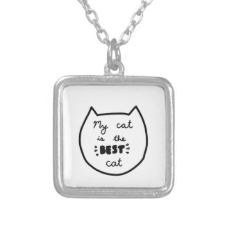 CAT LOVER shirts, accessories, gifts Silver Plated Necklace