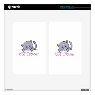 CAT LOVER KINDLE FIRE SKIN