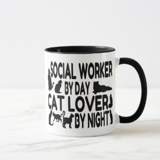 Cat Lover Social Worker Mug