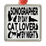 Cat Lover Sonographer Christmas Tree Ornaments
