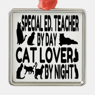 Cat Lover Special Education Teacher Metal Ornament