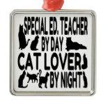 Cat Lover Special Education Teacher Christmas Ornament