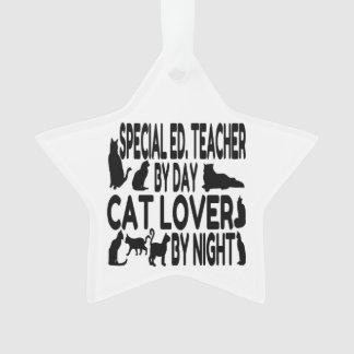 Cat Lover Special Education Teacher Ornament