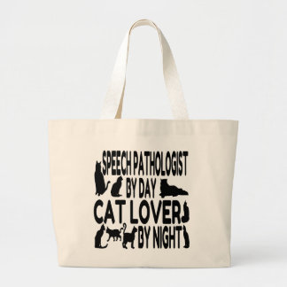 Cat Lover Speech Pathologist Large Tote Bag
