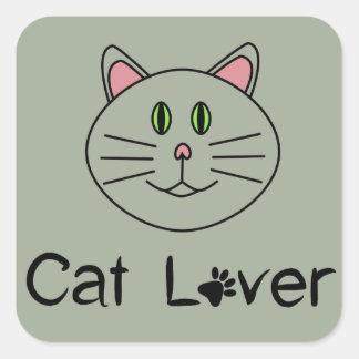 Cat Lover Square Sticker