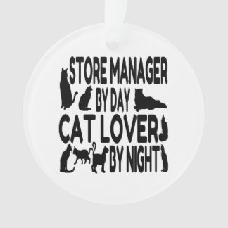 Cat Lover Store Manager Ornament
