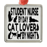 Cat Lover Student Nurse Christmas Tree Ornaments