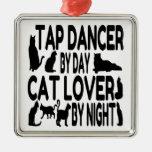 Cat Lover Tap Dancer Christmas Ornaments