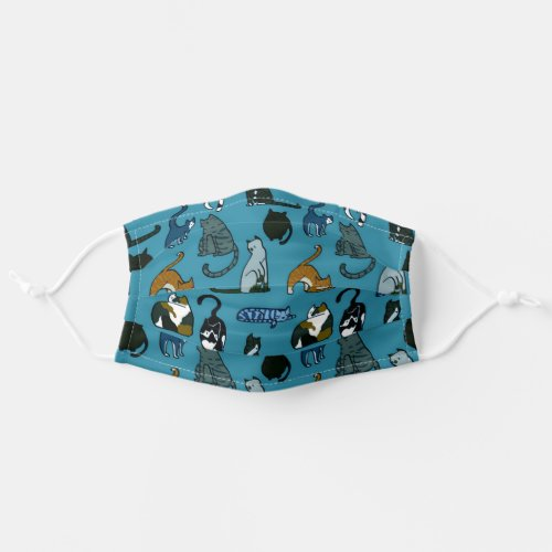 Cat Lover Teal Cloth Face Mask
