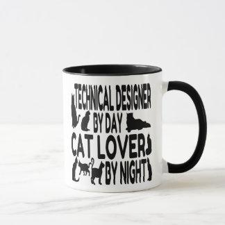 Cat Lover Technical Designer Mug