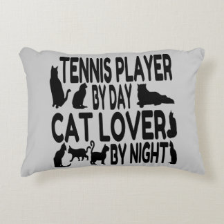 Cat Lover Tennis Player Accent Pillow