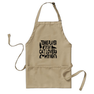 Cat Lover Tennis Player Adult Apron