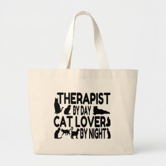 Cat Lover Therapist Large Tote Bag