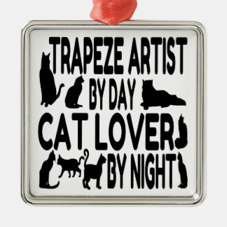 Cat Lover Trapeze Artist Christmas Tree Ornaments