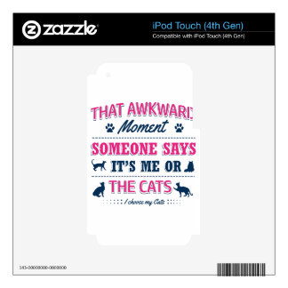 Cat lover tshirts iPod touch 4G decal