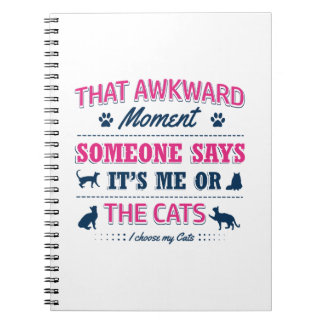 Cat lover tshirts notebook
