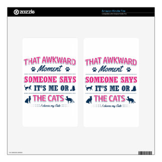 Cat lover tshirts skins for kindle fire