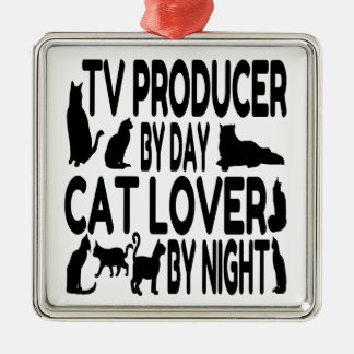 Cat Lover TV Producer Metal Ornament