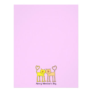 Cat Lover Valentines Day Stationery Letterhead