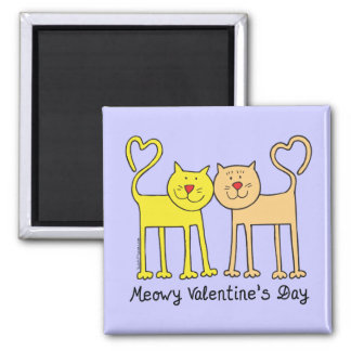Cat Lover Valentines Day T-shirts Gifts Refrigerator Magnets