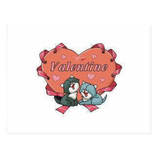 Cat Lover Valentines Postcard