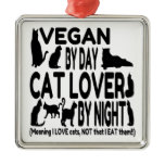 Cat Lover Vegan Funny Christmas Ornament