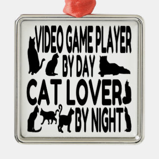 Cat Lover Video Game Player Christmas Tree Ornament