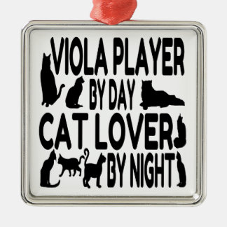 Cat Lover Viola Player Christmas Ornaments