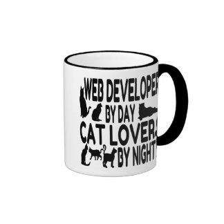 Cat Lover Web Developer Ringer Coffee Mug