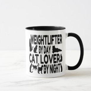 Cat Lover Weightlifter Mug