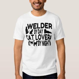 Cat Lover Welder T Shirt
